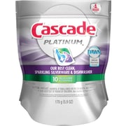 Cascade® Platinum™ ActionPacs™ Dishwasher Detergent, Fresh Scent, 10/Pack