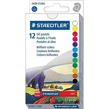 Staedtler - Pastels à l'huile, couleurs assorties, paq./12