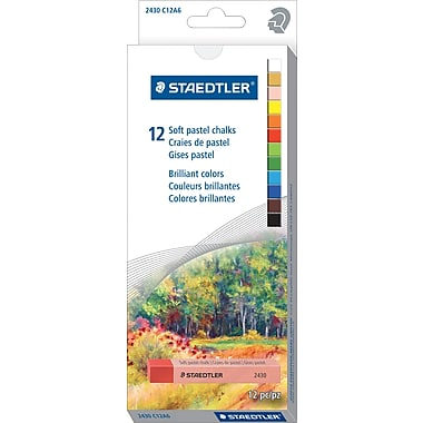 Staedtler Soft Pastels Chalk, Assorted, 12/Pack