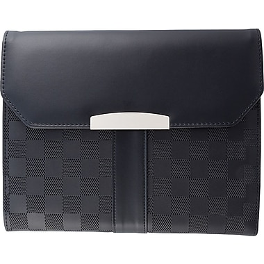 Bugatti Checkered Pattern Synthetic Leather Writing Case