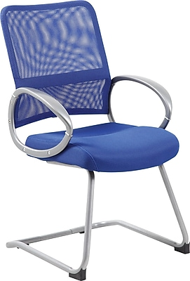 Boss Mesh Back with Pewter Finish Guest Chair (B6419-BE)