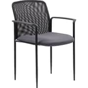 BOSS Stackable Mesh Guest Chair, Grey