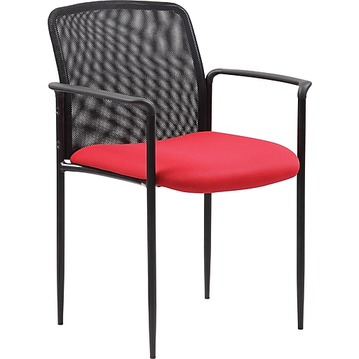 BOSS Stackable Guest Chair, Red