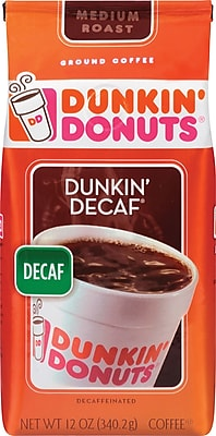 Dunkin' Donuts Decaf Ground Coffee, 12 oz. Bag