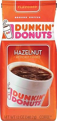 Dunkin' Donuts® Hazelnut Ground Coffee, Medium Roast, 12 oz. Bag (SMU00049)