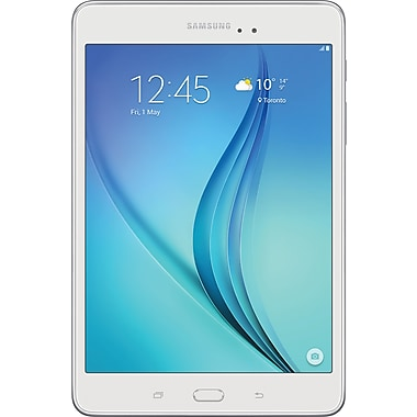 Samsung - Tablette Galaxy Tab A SM-T350NZWAXAC, 8 po, 1,2 GHz quadricoeur Android Lollipop, RAM 1,5 Go, stockage 16 Go, blanc