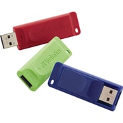 Verbatim 8GB Store n Go USB Flash Drive, 3/Pack Red, Green and Blue (98703)
