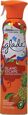 Glade Air Freshener Spray, Island Escape, 9.7