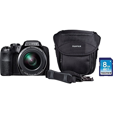 Fujifilm FinePix S8600 Digital Camera Bundle, Black