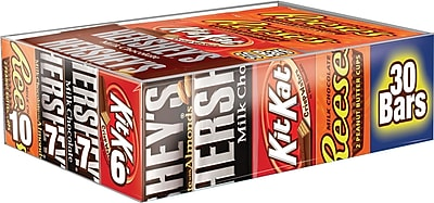 HERSHEY'S Chocolate Full Size Variety Pack, 45 oz 1412776