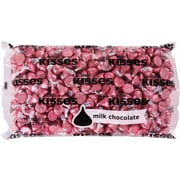 KISSES Milk Chocolates, Pink, 66 oz