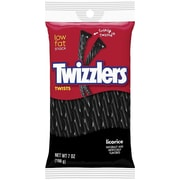 Twizzlers Black Licorice Twists Bag, 7 oz., 12/Case