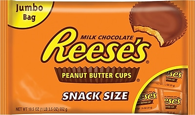 REESE'S Snack Size Peanut Butter Cups, 19.5 oz 184445