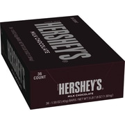Hershey's Milk Chocolate Bar, 1.55 oz., 36/Box