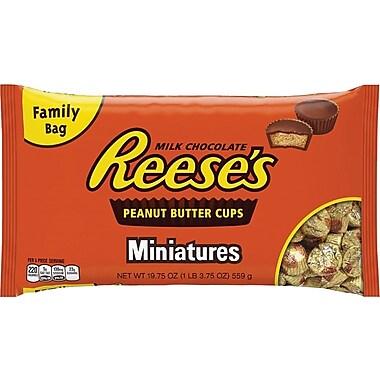 Reese's Peanut Butter Cups Miniatures Bag, 19.75 oz., 24/Case