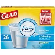 Glad® ForceFlex® Medium Quick-Tie® Trash Bags, 8 Gallon, 26 Count
