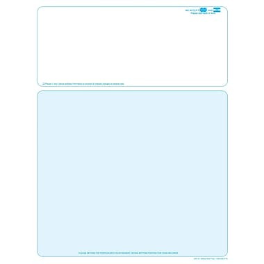 Solid Color Laser Statements, Style B, with Credit Card Information, Teal