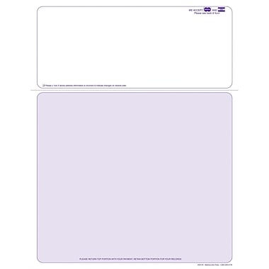 Solid Color Laser Statements, Style B, with Credit Card Information, Purple