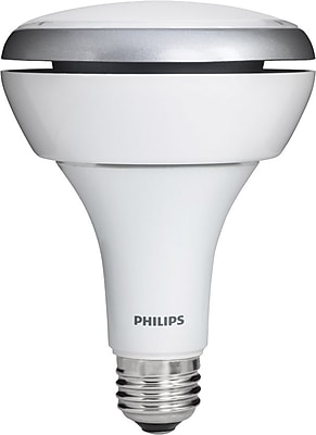 Philips 10.5 Watt BR30 LED Indoor Flood Light Bulb, Soft White, Dimmable