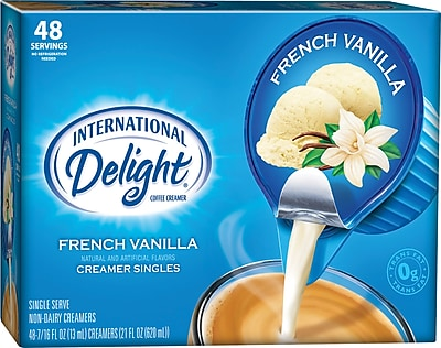 International Delight Liquid French Vanilla Cups, 48/BX