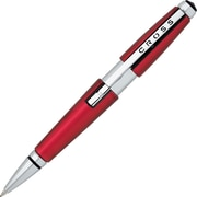 AT Cross® Edge Capless Gel Ink Rollerball Pen, Medium Point, Black Ink, Red Barrel