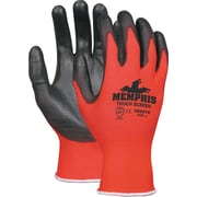 Touch Screen Nylon/polyurethane Gloves, Black/red, Large