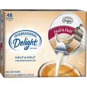 International Delight Half & Half Creamer Cups, 48/BX