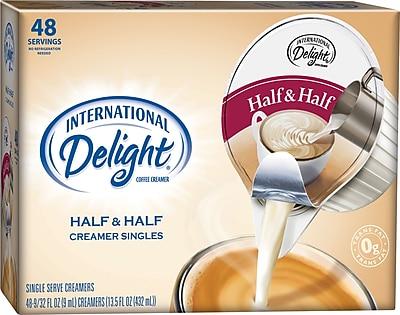 International Delight Half & Half Creamer Cups, 48/BX