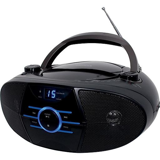 Jensen Portable Bluetooth CD Player with Radio