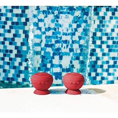 StickUp BLKRED Water-Resistant Bluetooth Wireless Speaker 2-Pack Red