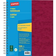 "Staples® 3 Subject Notebook, 9"" x 11"""