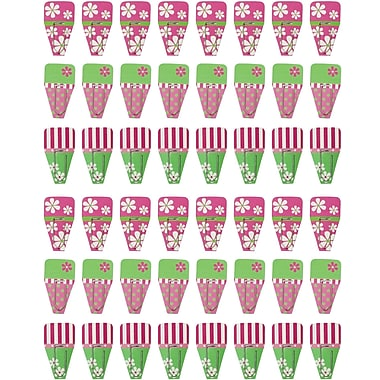 Clip-Rite Daisy Clip-Tab, Pink/Green, 192/Pack (CRT184)