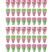 Clip-Rite® Daisy Clip-Tab, Pink/Green, 8/Pack