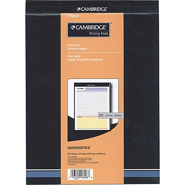 Cambridge Quicknotes Ruled Office Pad, 70 sheets