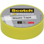 "Scotch® Expressions Washi Tape, 0.59"" x 10.91 yds., Pastel Green (C314-GRN2)"