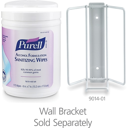 "PURELL® Alcohol Formulation Hand Sanitizing Wipes, 6""W x 7""L, 175 Count Canister, 6/Ct (9031-06)"