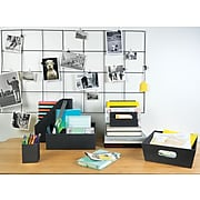 Staples Cloth Paper Tray, Charcoal