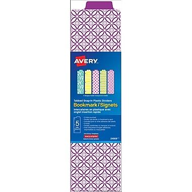 Avery® - Intercalaires Signets, variés, ensemble de 5 onglets
