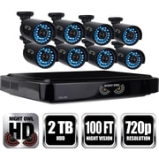 Night Owl HD 720p 16-Channel AHD Security System with 2TB HDD and 8 x 720p Cameras with 100ft of Night Vision (B-A720-162-8)