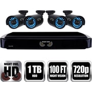Night Owl HD 720p 4 Channel AHD Security System with 1TB HDD and 4 x 720p Cameras with 100ft of Night Vision (B-A720-41-4)