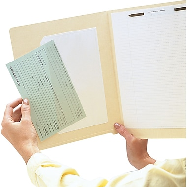 Medical Arts Press® Lightweight Poly Pockets, Inside: 5 x 3 inch, Outside: 5.75 x 3.75 inch