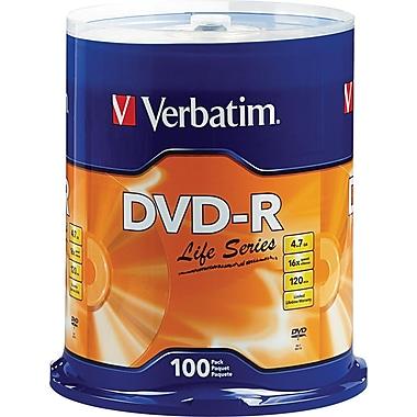 Verbatim, 100/Pack DVD-R Life Series