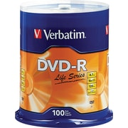 Verbatim® DVD-R Discs, Life Series, 16x, 4.7GB, 100-Pack Spindle