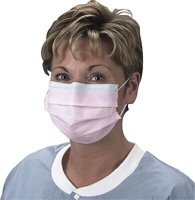 Crosstex Protective Masks, Procedural, Earloop, Pink