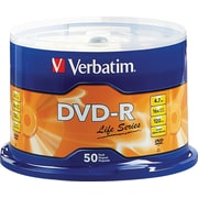 Verbatim® DVD-R Discs, Life Series, 16x, 4.7GB, 50-Pack Spindle