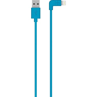 Belkin MIXITUP 90 Degree Lightning to USB Cable Blue