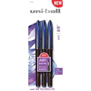 uni-ball Air Roller Ball Pen, Bold Point, Blue, 3/Pack (1926810)