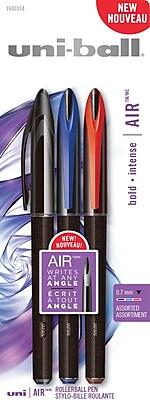 uni-ball AIR Ballpoint Pen, Assorted Colors, 3/pk (1927595)