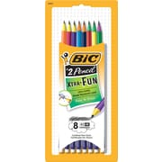 BIC® Xtra Fun Pencil, #2 HB, Two-Toned Color Barrels, 8/Pack