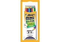 BIC® Xtra Fun Pencil, #2 HB, Two-Toned Color Barrels, 8/Pack